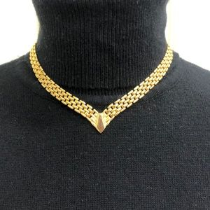 Vintage Napier gold tone necklace